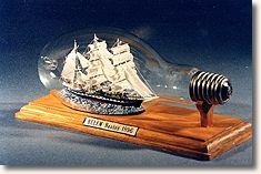 Les bateaux en bouteille for Construire le belem